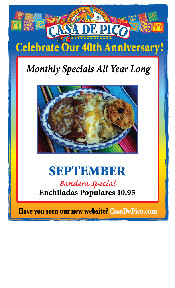 Casa de Pico San Diego Mexican Restaurant Celebrating 40 Years