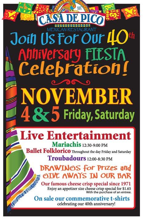 Casa de Pico 40th Anniversary Fiesta