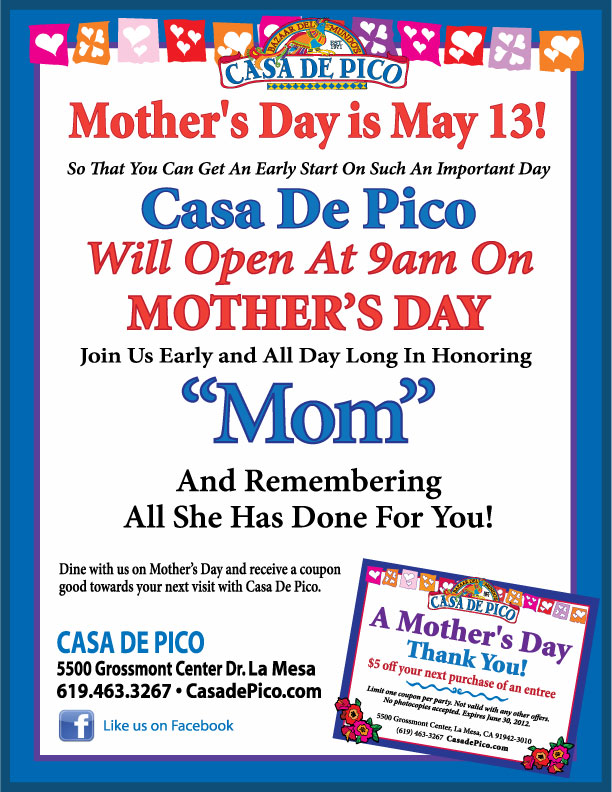 Casa de Pico Mother's Day 2012