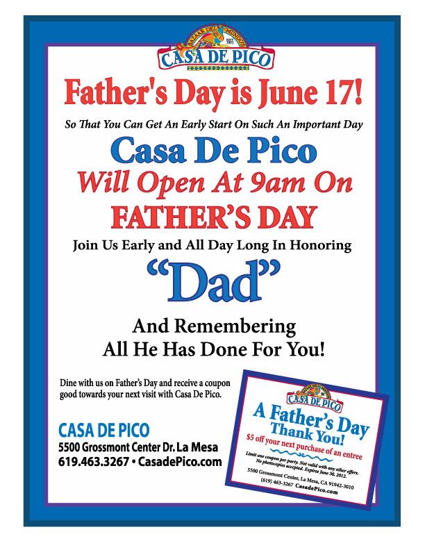 Casa de Pico Father's Day