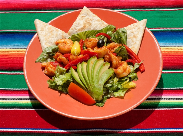 Casa de Pico Shrimp with Fresh Vegetables