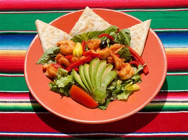 Casa de Pico Shrimp with Fresh Vegetables