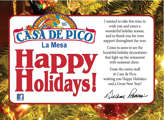 Diane Powers and Casa de Pico Happy Holidays 2012