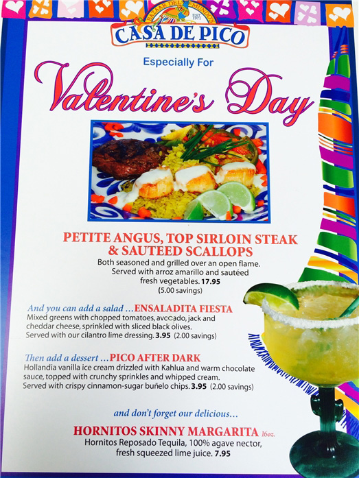 Valentines Mexican Food Jelenia Coffee